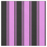 [ Thumbnail: Violet and Black Pattern of Stripes Fabric ]