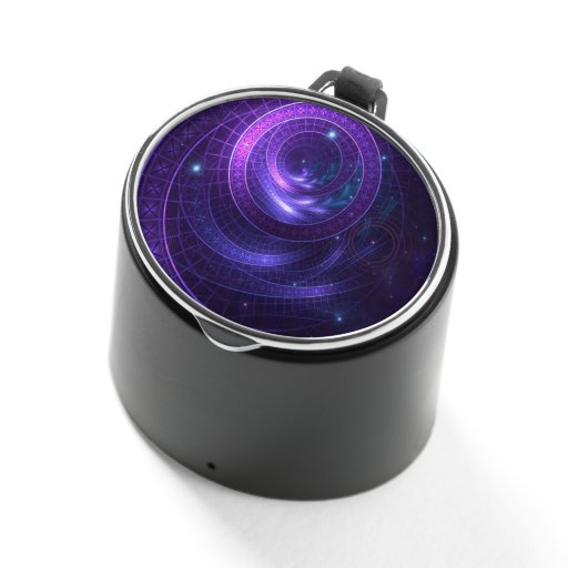 Violet and Blue Geometry of a Celestial Wormhole Bluetooth Speaker