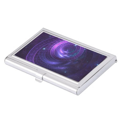 Violet and Blue Geometry of a Celestial Wormhole Business Card Case