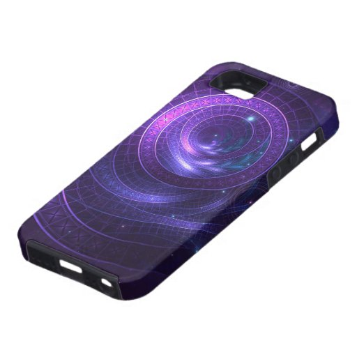 Violet and Blue Geometry of a Celestial Wormhole iPhone SE/5/5s Case