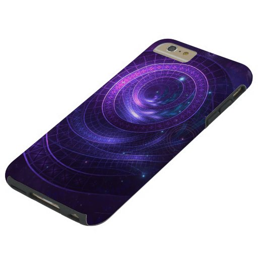 Violet and Blue Geometry of a Celestial Wormhole Tough iPhone 6 Plus Case