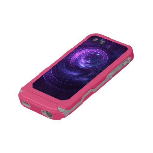 Violet and Blue Geometry of a Celestial Wormhole Waterproof Case For iPhone SE/5/5s