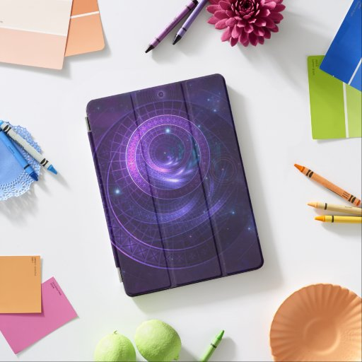 Violet and Blue Geometry of a Celestial Wormhole iPad Air Cover