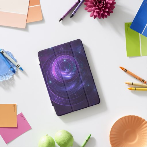 Violet and Blue Geometry of a Celestial Wormhole iPad Mini Cover