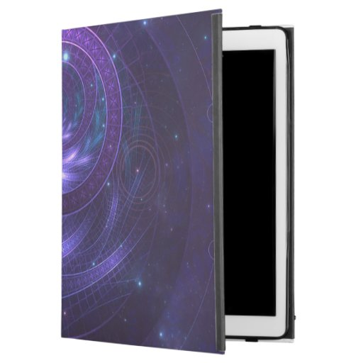 """Violet and Blue Geometry of a Celestial Wormhole iPad Pro 12.9"""" Case"""