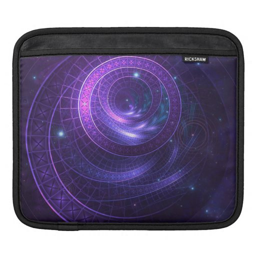Violet and Blue Geometry of a Celestial Wormhole iPad Sleeve