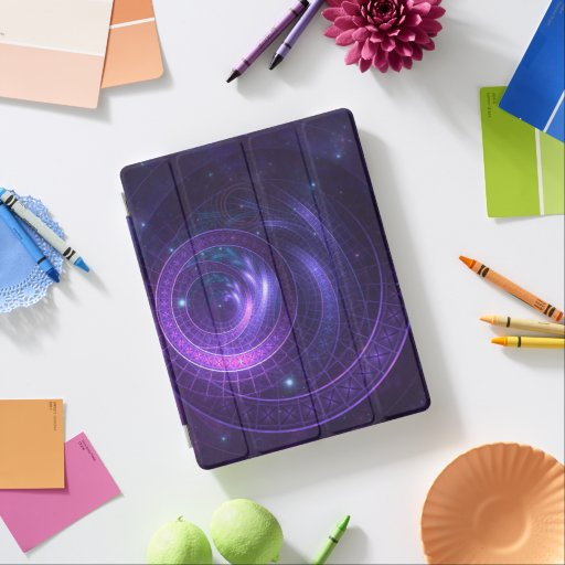 Violet and Blue Geometry of a Celestial Wormhole iPad Smart Cover