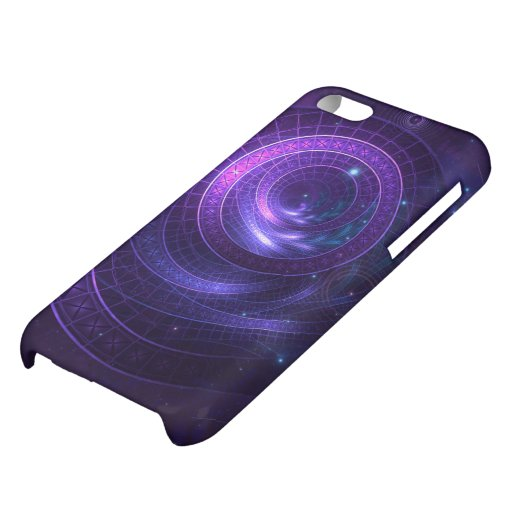 Violet and Blue Geometry of a Celestial Wormhole Case For iPhone 5C