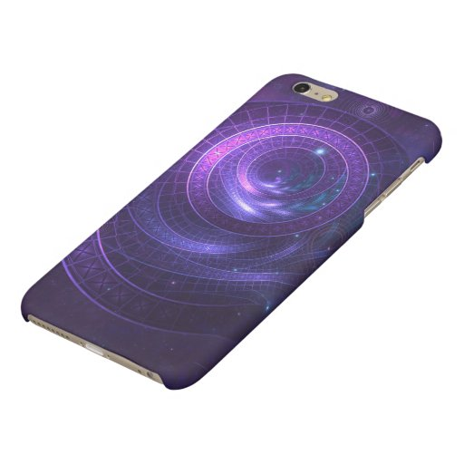 Violet and Blue Geometry of a Celestial Wormhole Matte iPhone 6 Plus Case