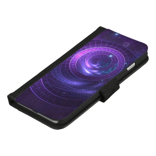 Violet and Blue Geometry of a Celestial Wormhole iPhone 8/7 Plus Wallet Case