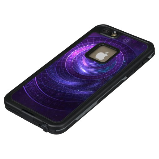 Violet and Blue Geometry of a Celestial Wormhole LifeProof FRĒ iPhone 6/6s Plus Case