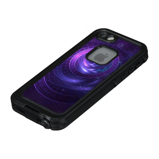 Violet and Blue Geometry of a Celestial Wormhole LifeProof FRĒ iPhone SE/5/5s Case