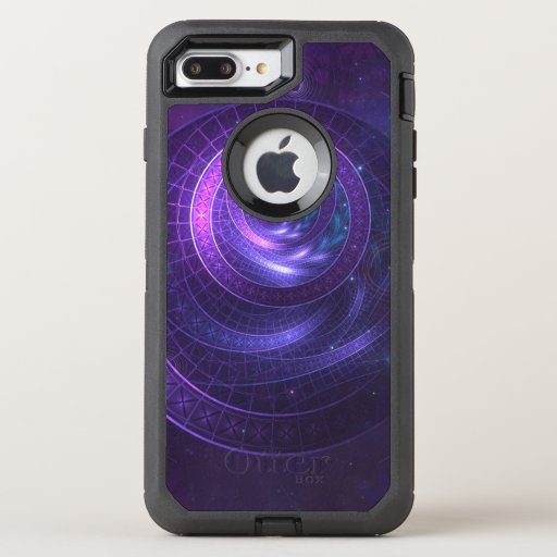 Violet and Blue Geometry of a Celestial Wormhole OtterBox Defender iPhone 8 Plus/7 Plus Case