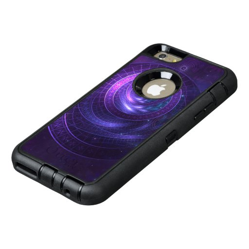 Violet and Blue Geometry of a Celestial Wormhole OtterBox Defender iPhone Case