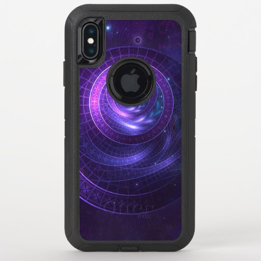 Violet and Blue Geometry of a Celestial Wormhole OtterBox Defender iPhone XS Max Case