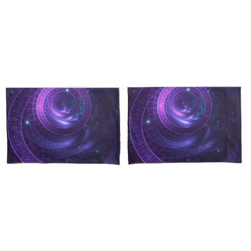 Violet and Blue Geometry of a Celestial Wormhole Pillow Case