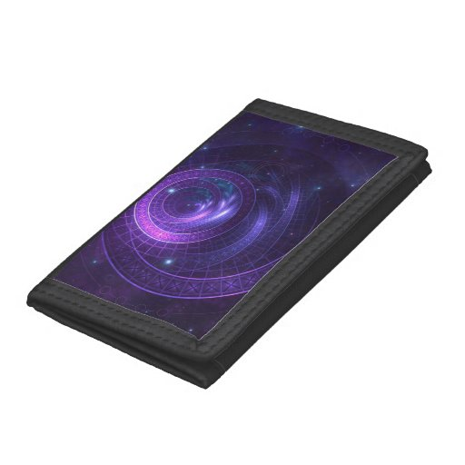 Violet and Blue Geometry of a Celestial Wormhole Trifold Wallet
