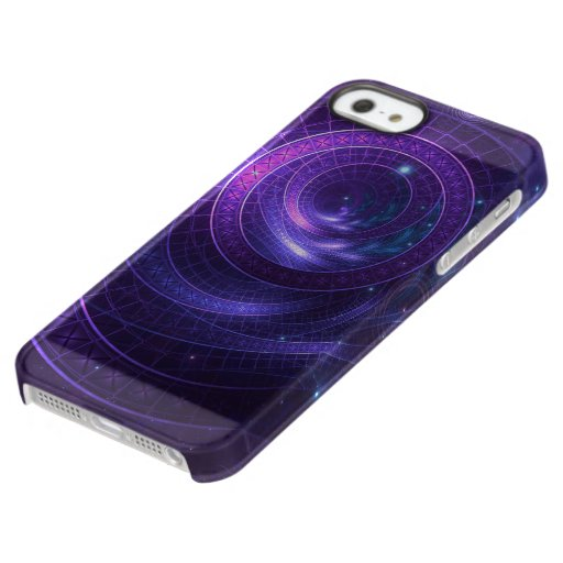 Violet and Blue Geometry of a Celestial Wormhole Permafrost iPhone SE/5/5s Case