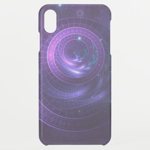 Violet and Blue Geometry of a Celestial Wormhole iPhone XS Max Case