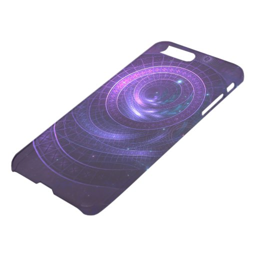 Violet and Blue Geometry of a Celestial Wormhole iPhone 8 Plus/7 Plus Case