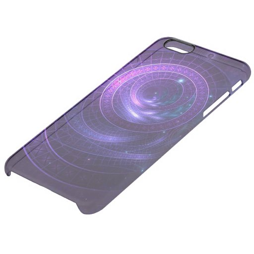 Violet and Blue Geometry of a Celestial Wormhole Clear iPhone 6 Plus Case