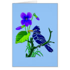 Violet and Blue Jay Card