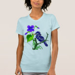 Violet and Blue Jay Tshirts