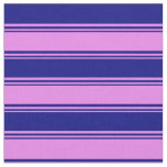 [ Thumbnail: Violet and Blue Pattern of Stripes Fabric ]