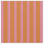 [ Thumbnail: Violet and Chocolate Pattern Fabric ]