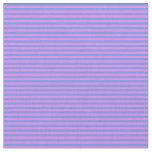 [ Thumbnail: Violet and Cornflower Blue Lined/Striped Pattern Fabric ]