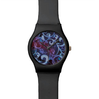 Violet and Crimson Scroll Fleur Watch