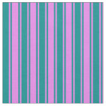 [ Thumbnail: Violet and Dark Cyan Colored Lines Fabric ]