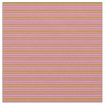 [ Thumbnail: Violet and Dark Goldenrod Colored Pattern Fabric ]
