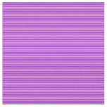 [ Thumbnail: Violet and Dark Orchid Colored Striped Pattern Fabric ]