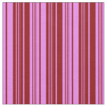 [ Thumbnail: Violet and Dark Red Lines Pattern Fabric ]