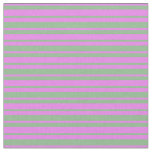 [ Thumbnail: Violet and Dark Sea Green Colored Stripes Fabric ]