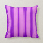 [ Thumbnail: Violet and Dark Violet Pattern Throw Pillow ]