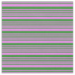 [ Thumbnail: Violet and Forest Green Colored Pattern Fabric ]