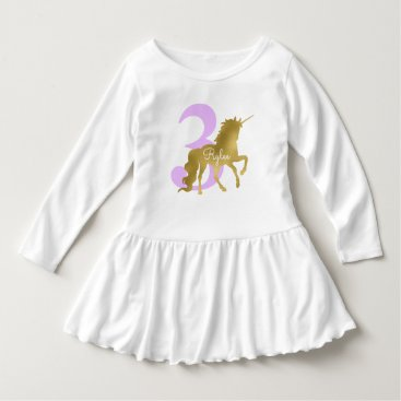 heartlocked Violet and Gold Unicorn Milestone Birthday Dress