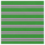 [ Thumbnail: Violet and Green Colored Pattern Fabric ]