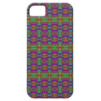Violet And Green Grid Pattern. Elegant Design iPhone 5 Case