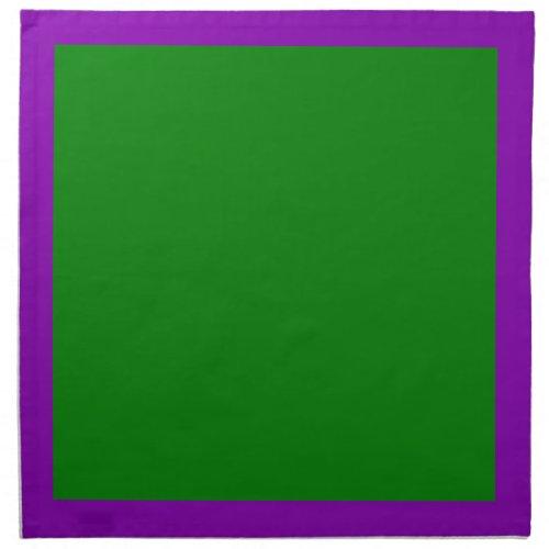 Violet and Green Napkins