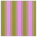 [ Thumbnail: Violet and Green Pattern Fabric ]