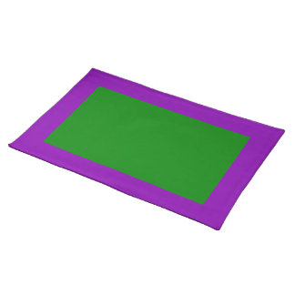 Violet and Green Placemat