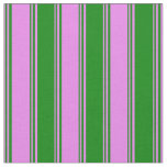 [ Thumbnail: Violet and Green Striped/Lined Pattern Fabric ]