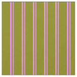 [ Thumbnail: Violet and Green Stripes Pattern Fabric ]