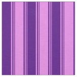 [ Thumbnail: Violet and Indigo Colored Lines Fabric ]