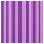 [ Thumbnail: Violet and Indigo Stripes/Lines Pattern Fabric ]