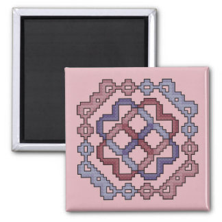 Violet and Mauve Cross Stitch Magnet