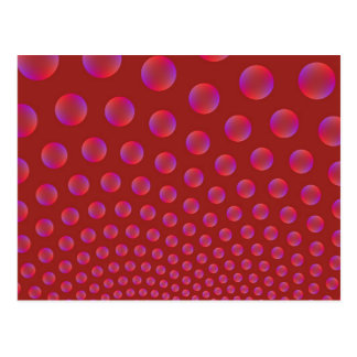 Violet and Red Bubbles Post Card